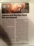Johan och Martins fond blir permanent